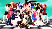 【MMD-PVF3】予告:キャラサミメンバー20人で