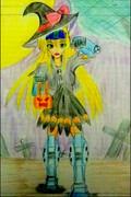 ハロウィンの夜を徘徊するジムスナイパーⅡ(MS少女ハロウィン仕様)