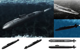 MMD用モブ戦略ミサイル原潜2015セット