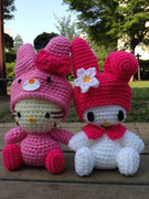キティー&マイメロの編みぐるみ