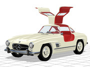 ガルウィングなオイゲンさんの愛車(300SL)メルセデス・ベンツW198