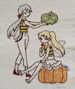 ハクネル★ハロウィン(刺繍)