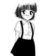 吊りスカート小学生