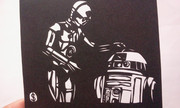切り絵 R2-D2&C-3PO