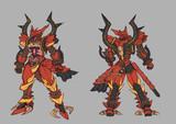 ヴァーミリオンの守護者の鎧