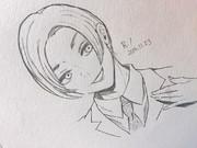 東京喰種の月山習(少年期)シャーペンで描いてみた