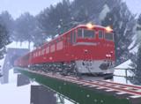 冬の板谷峠