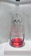 先代巫女をグラスに彫ってみた