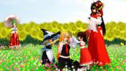 【MMDルーミア静止画祭り】花畑で…