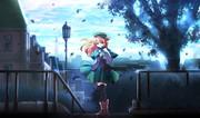 【オリジナル】少女の待つ高台
