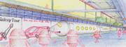 ロボットシティーステーション水彩色鉛筆version