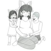 RU姉貴の誕生を楽しみに待つ姉妹