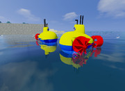 お風呂の潜水艦を発見!