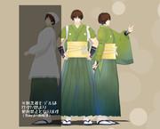 【MMD】roco式石切丸 内番 配布