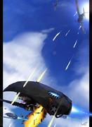 深海艦載機を迎撃する十七試艦上戦闘機