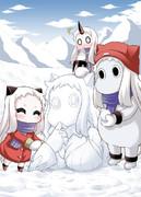 ほっぽとむっぽ雪遊び