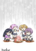 たき火だたき火だ落ち葉焚き