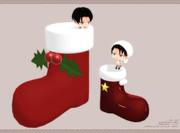 【MMDアクセサリ配布】サンタブーツ