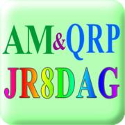 JR8DAGのAM & QRP ホームページロゴ(正方形)