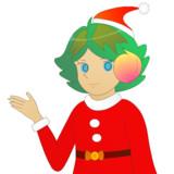 JR8DAGのAM & QRP ホームページのイメージキャラクターのゆめこ(サンタ服)