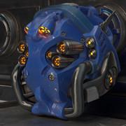 青いSF風ヘルメット