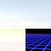 【MMD】グリッド風の床とグラデーションドーム【ステージ配布あり】