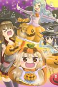かぼちゃ衣装のうまるちゃん達