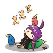 お昼寝ゆかりさん(フリーアイコン)
