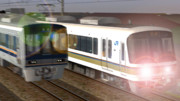 快 速 電 車 。