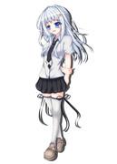 リクエスト絵1『銀髪碧眼少女』