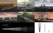 MMD用モブ船演出セットIII
