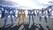 【Minecraft】つくった戦術機を並べてみた