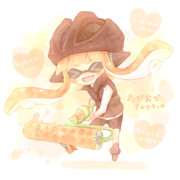 【マイイカ描きます企画】タピオカいかちゃん♡