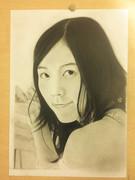 松井珠理奈(SKE)さんを描いてみた。鉛筆画 生放送で