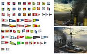 MMD用モブ船信号旗セット