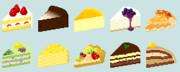 【ドット絵】ケーキ