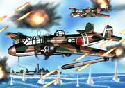 九六式陸上攻撃機くん迫真の超低空雷撃