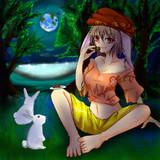 団子好きのウサギ