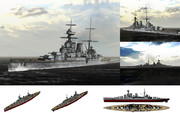 MMD用モブ巡洋戦艦1920セット