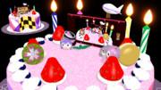 ゆか誕2015記念ケーキ作ってみた(兼ステージ風)