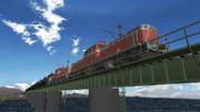 鹿島線北浦橋梁を行くジェット燃料輸送列車