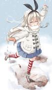 島風「雪だ~♡」