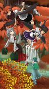 修行中-秋の天狗祭り描いてみた