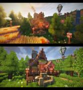 【Minecraft】森を越えた先にある家