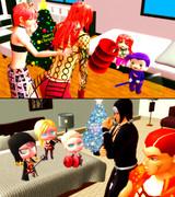 クリスマスの準備それぞれ