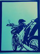 バイク 切り絵