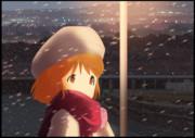 雪歩 夕暮れの雪