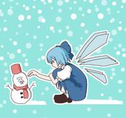 雪だるまをつくるKRKNTN姉貴