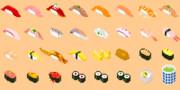 【ドット絵】寿司