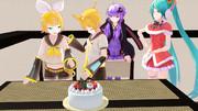 リンちゃん、レンくん誕生日おめでとう?